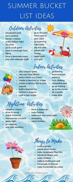 Outdoor Summer Activities, Holiday Activities, Toddler Activities, Family Fun Activities, Summer Activities For Toddlers, Summer Fun For Kids, Summer Fun List, Summer Bucket Lists, Neymar