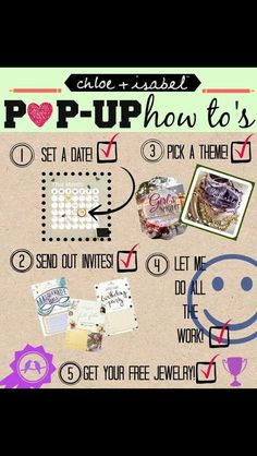 Pop ups are easy and fun! Contact me to have a fantastic girl's night!http://www.chloeandisabel.com/boutique/bridgeyb