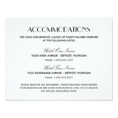 accommodations cards for wedding invitation cream direction card