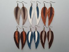 Handmade Leather Earrings. Bohemian Leather Earrings. Boho Earrings. Hippie Earrings. Leather Boho Jewelry. Materials: genuine leather,bronze hooks. Length with hooks: 3.75 If you have any questions, please contact me. Shipping information: UK: 1-3 business day Europe: 3-7