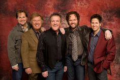 Gaither Vocal Band: (L-R) Michael English, Bill Gaither, Mark Lowry, David Phelps, Wes Hampton