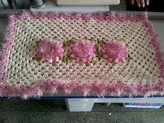 Arte Presentes: Tapete Rosa de Croche .