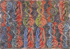 """Philip Taaffe, """"Sardica II"""" mixed media on canvas, 55 x 80 inches X cm) Mixed Media Canvas, Occult, Three Dimensional, Online Art Gallery, Art Forms, Printmaking, Abstract Art, Drawings, 2d"""