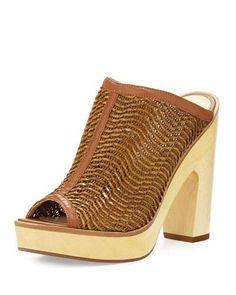 POUR LA VICTOIRE Sanya Mule Slip-On Sandal, Nude. #pourlavictoire #shoes #sandals