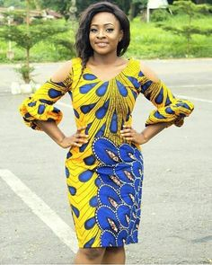 Ankara Short Gown Styles Flirty Ideas For Your Hot Look! African Dresses For Women, African Print Dresses, African Attire, African Wear, African Women, African Prints, African Fashion Ankara, African Inspired Fashion, African Print Fashion