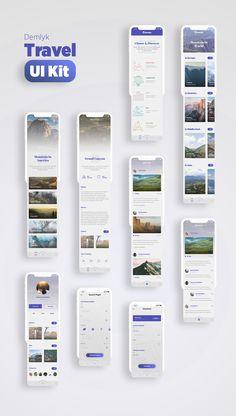 Demlyk Travel iOS UI Kit — UI Kits on UI8