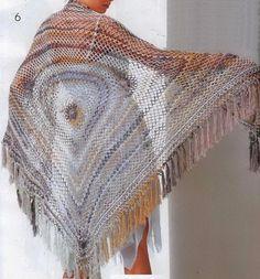 Stylish Easy Crochet: Crochet Shawls for spring and Summer