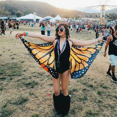 Honana Butterfly Wing Bohemian Chiffon Beach Towel Women Shawl Skirt Bath Towel Tapestry - New Rock Style Festival Mode, Rave Festival, Festival Looks, Festival Wear, Festival Style, Music Festival Outfits, Music Festival Fashion, Fashion Music, Gypsy Fashion