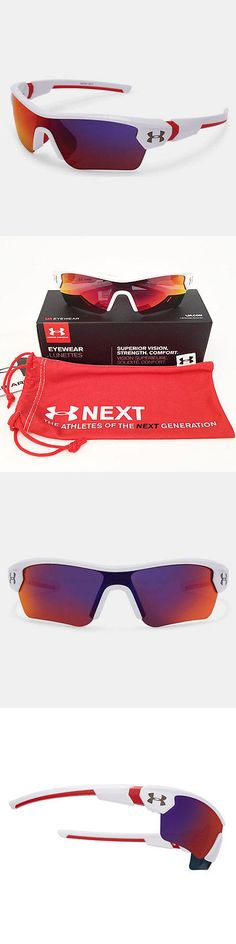 Sunglasses 131411: Under Armour *Youth* Menace Sunglasses Shiny White Frame Infrared Multi 18273 -> BUY IT NOW ONLY: $48.95 on eBay!