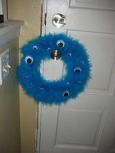 Monster Wreath for Isla's first birthday party