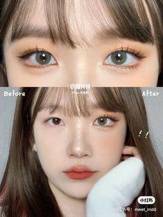 Korean Natural Makeup, Korean Eye Makeup, Korea Makeup, Cute Makeup, Pretty Makeup, Makeup Looks Tutorial, Kawaii Makeup Tutorial, Ulzzang Makeup Tutorial, Asian Makeup Tutorials