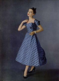 Jeanne Lanvin Castillo Gown - 1956 L'Officiel De La Mode - 409 - 410