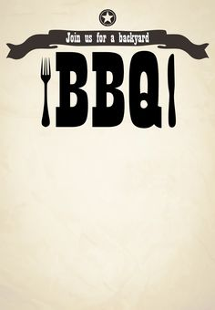 #BBQ #Invitation Free Printable Join Us For A Backyard BBQ Invitation - Click to print!