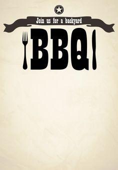 #BBQ #Invitation Free Printable Join Us For A Backyard BBQ Invitation - Click to print!