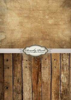 "ALL IN ONE 42"" x 87"" Vinyl photography Backdrop  / Baseboard, Grunge Canvas, Western Wood. $79.99, via Etsy."