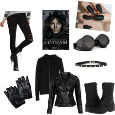 Selina Kyle- Gotham by katewayne07 on Polyvore featuring ONLY, VIPARO, Tripp, Madden Girl and GAS Jeans