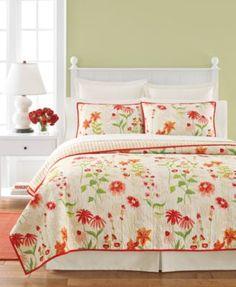 Martha Stewart Collection Flower Song Quilts | macys.com