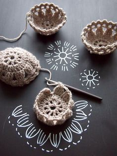 Crochet Mini Basket - Chart ❥ ༺✿ƬⱤღ https://www.pinterest.com/teretegui/✿༻