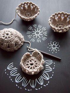 lebenslustiger:  Crochet Mini Basket  https://www.pinterest.com/pin/21251429468312630/ by