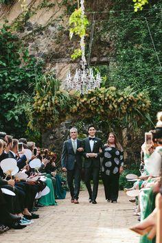 A Greenery-Filled Hawaiian Wedding in a Historic Sugar Mill Green Wedding, Floral Wedding, Fall Wedding, Wedding Ceremony, Vogue Wedding, Green Colour Palette, Lesbian Wedding, Hawaii Wedding, Beautiful Couple