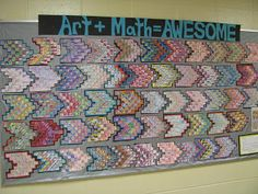 Math and art go so well together in activities like this!