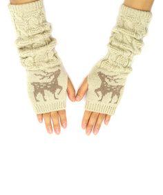 Another great find on #zulily! Beige Deer Arm Warmers by Urbanista #zulilyfinds