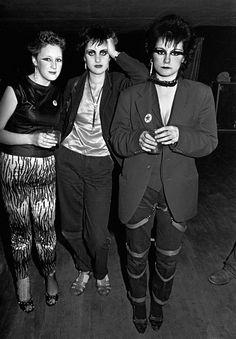 Punk Girls, photo by Syd Shelton, West Runton Pavilion, Cromer Norfolk 1979 via
