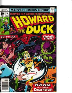 HOWARD THE DUCK #10 Marvel Dc, Marvel Comics, Howard The Duck, Comic Book Covers, Bronze Age, Universe, Characters, Classic, Art
