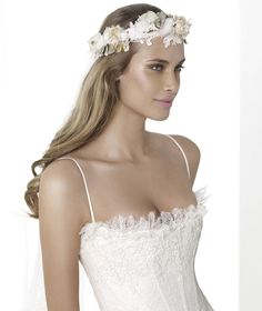 Pronovias I love the top on this one especially the scalloped lace