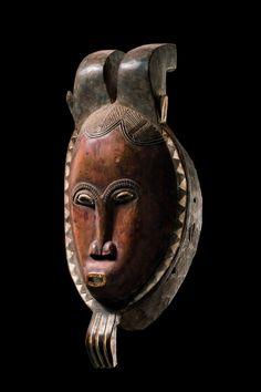 Baule Kpwan Pre Mask, Ivory Coast http://www.imodara.com/item/ivory-coast-baule-goli-entertainment-mask-kpwan-pre-junior-female/