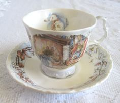 Vintage Royal Doulton Brambly Hedge Winter Tea Cup and Saucer With Original Box by TheWhistlingMan on Etsy