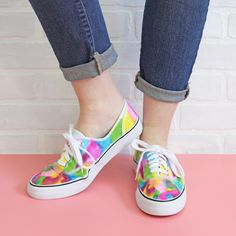 Sharpie Tie Dye Sneakers - The Craft Patch