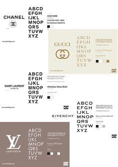 Fase 1: Concept 2: Fonts van modemerken