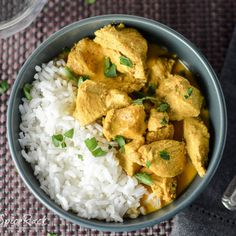 Coconut Curry Chicken - This Coconut Curry Chicken has a smooth, creamy, & buttery curry sauce with a hint of coconut and is Easy to make.