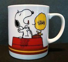 Vintage Snoopy I'M not Worth A Thing Before Coffee Break Mug Cup Shulz Woodstock   eBay