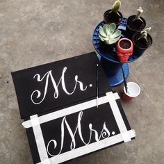Painting letter on wood