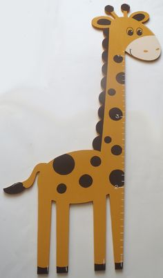 Giraffe Shaped Growth Chart-giraffe growth chart, wooden growth chart, measuring stick, custom growth chart, shaped growth chart, jungle, animal,
