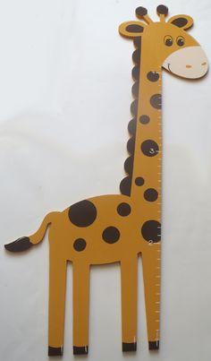 Giraffe Shaped Growth Chart-giraffe growth chart, wooden growth chart, measuring stick, custom growth chart, shaped growth chart, jungle, animal,