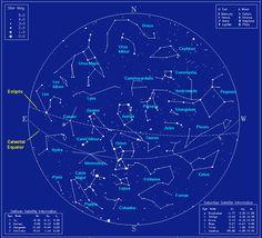 Northern Hemisphere Winter Constellation Map | Winter Constellations in the Northern Hemisphere