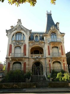 Вилла Виардо, Труа, Франция / Art Nouveau Villa Viardod Troyes France
