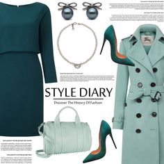 A fashion look from December 2015 by littlehjewelry featuring Burberry, Christian Louboutin and Alexander Wang