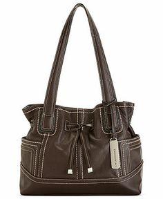 2328385a0e Tignanello Leather Drawstring Shopper   Reviews - Handbags   Accessories -  Macy s