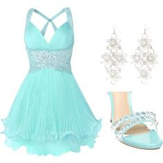 For Elise someday. Dama Dresses, Prom Dresses, Formal Dresses, Wedding Dresses, Dance Outfits, Cute Outfits, Tiffany Blue Dress, For Elise, Looks Cool