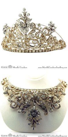 Victorian convertible tiara/necklace
