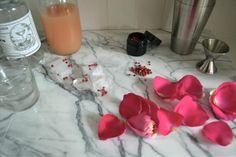 Rose, Pink Pepper, and Grapefruit Sparkler, Remodelista Spring Cocktails, Pink Grapefruit, Early Spring, Sparklers, Food And Drink, Stuffed Peppers, Rose, Party, Diy