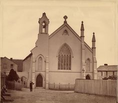 Saint Barnabus Church at Broadway, where Arthur Stace (later known as Mr Eternity) was converted through the ministry of the Word of God by Rev R B S Hammond on 7 August Time In Sydney, Old Churches, Historical Pictures, Sydney Australia, Vintage Photos, Broadway, Saints, South Wales, Family History