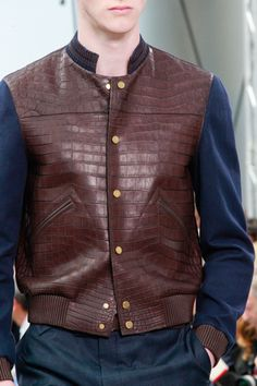 Alligator bomber jacket by Kim Jones for Louis Vuitton Spring 2012
