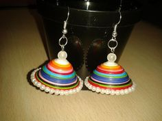 10min to Make A Paper Jhumka' beginners full Tutorial