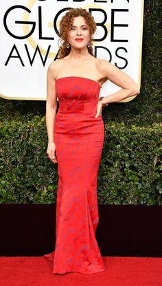Bernadette Peters wearing Zac Posen to the 2017 Golden Globes