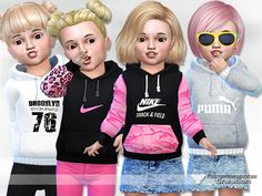 The Sims Resource: Sporty Hoodie for Toddler by Pinkzombiecupcakes • Sims 4 Downloads